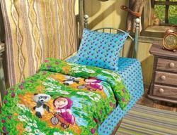 Комплект детского постельного белья Маша и Медведь. Гость