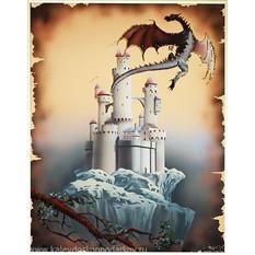 Картина с кристаллами Swarovski Век драконов