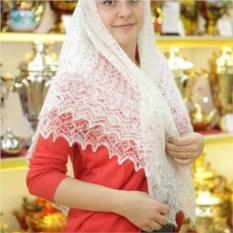 Оренбургский пуховый платок ручной работы