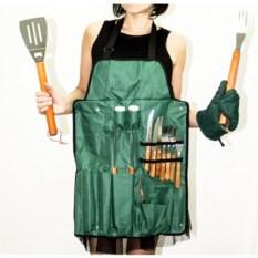 Фартук для барбекю на 4 персоны, зеленый Эврика