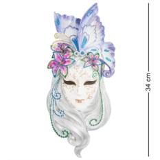 Венецианская маска Лилия (цвет — бело-фиолетовый)