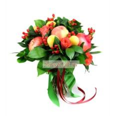 Букет из фруктов и цветов Яркое настроение