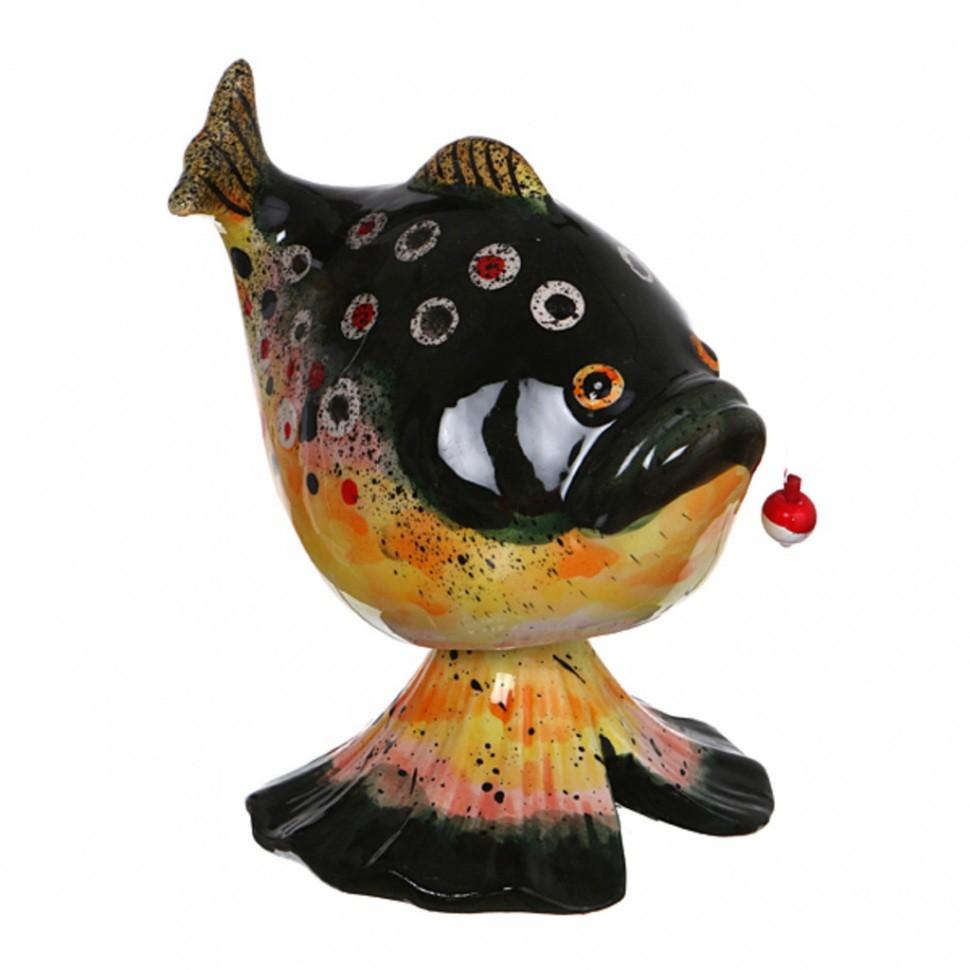 Статуэтка с качающейся головой  Рыбка с наживкой