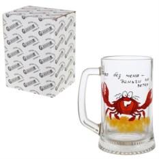 Кружка для пива в индивидуальной упаковке Краб