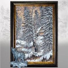 Картина Таёжный пейзаж со зверем