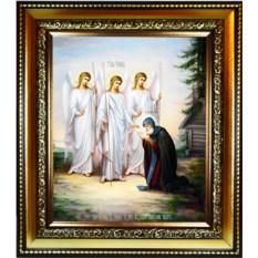 Икона на холсте Явление Святой Троицы Александру Свирскому