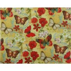 Упаковочная бумага с бабочками