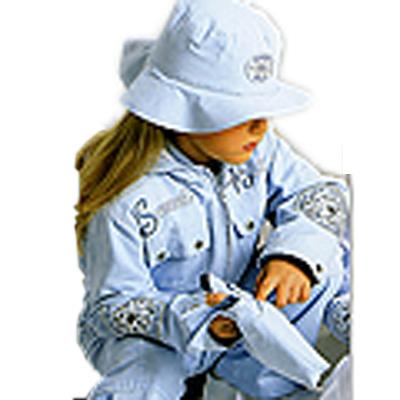 Куртка 2 в 1 с панамой голубая 92 (Dominka)