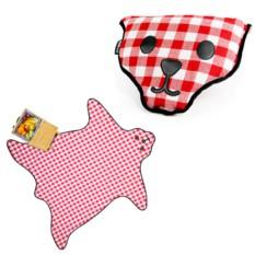 Коврик для пикника Bear, красный