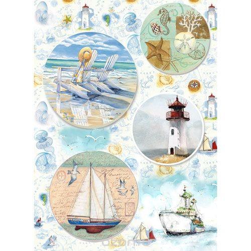 Рисовая бумага для декупажа Морское настроение, 28,2 см х 38,4 см