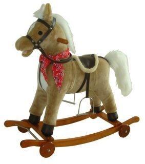 Лошадка-качалка на колесах с мелодией