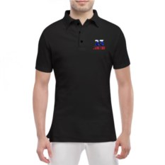 Мужская футболка-поло 23 февраля. Флаг России