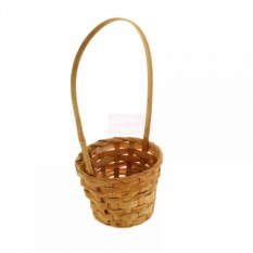 Плетёная коричневая корзина Бамбук
