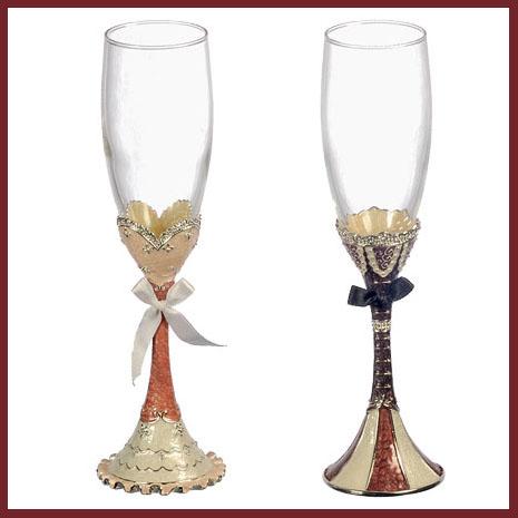 Набор для шампанского «Молодожёны»