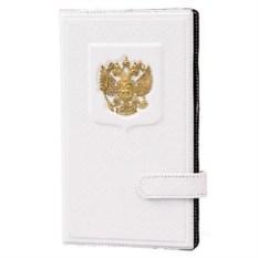 Белая визитница Герб на 160 визиток