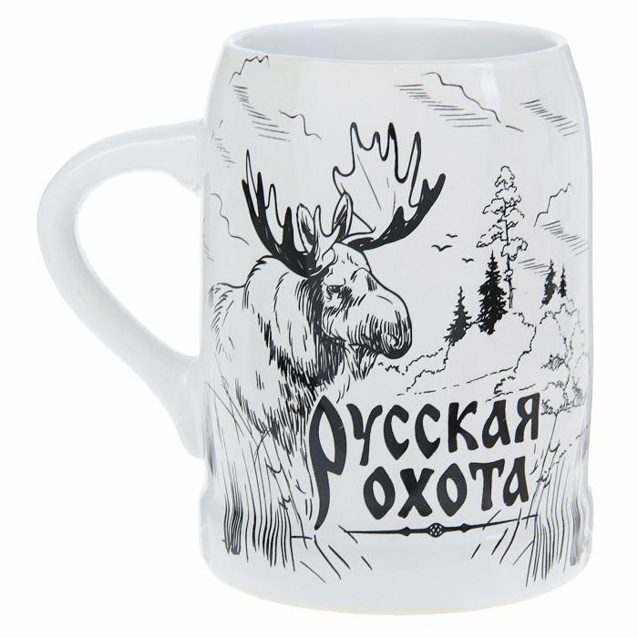 Пивная кружка Русская охота, 500 мл