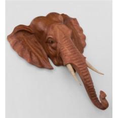 Панно из дерева суар Индийский слон (50 см)