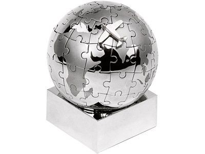 Головоломка-пазл на магнитах «Земной шар» с моделью самолета