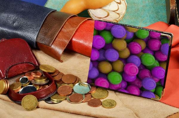 Портмоне с принтом Разноцветные драже