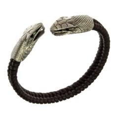 Браслет с головой змеи Dueling Serpent