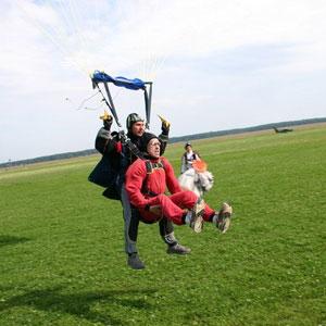 Прыжок с парашютом на двоих