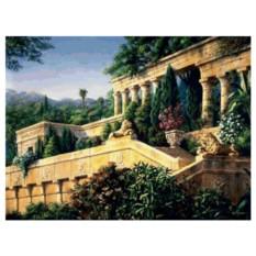 Картина-раскраска по номерам на холсте Античный сад