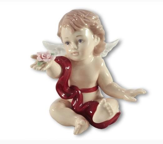 Статуэтка Ангелочек в красном Navel