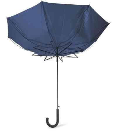 Синий зонт с системой защиты от ветра