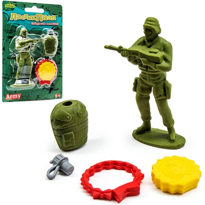 Ластики-пазлы «Солдат»