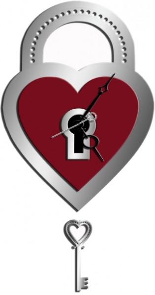 Настенные часы Ключ к сердцу