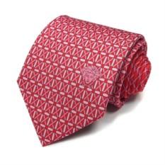 Красно-розовый галстук Versace