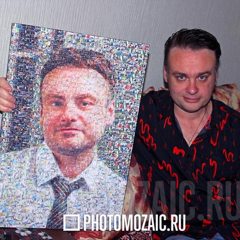 Фотомозаика в подарок мужчине
