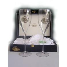 Набор свадебных бокалов под шампанское «Кольца»