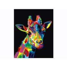 Картины по номерам «Радужный жираф»