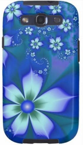 Пластиковая 3D накладка Blue для Samsung S3 i9300