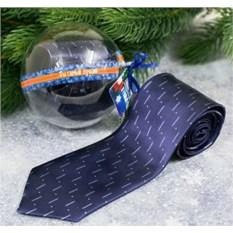 Синий галстук в шаре с открыткой