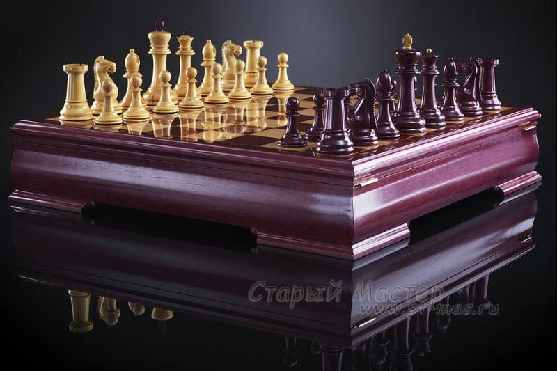 Шахматы «Стаунтон люкс» амарант
