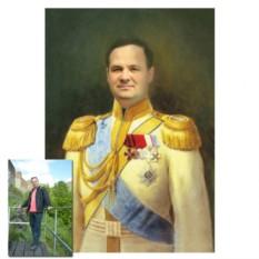 Монтаж лица в образ военного