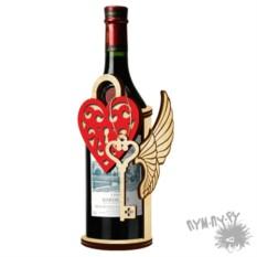 Деревянная подставка под вино Романтика