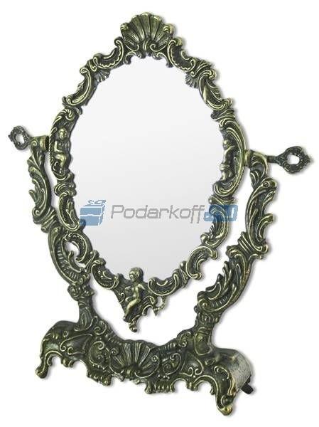 Зеркало  настольное Ракушка (под бронзу)