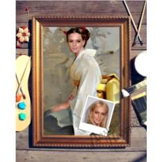 Портрет по фото В кимоно