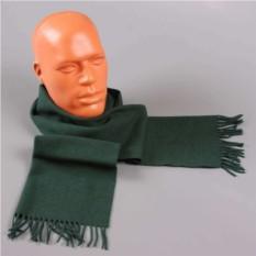 Теплый зеленый мужской шарф Peter Macarthur