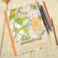 Раскраска-антистресс Дивный сад