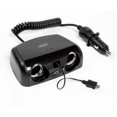 Разветвлитель прикуривателя RING 2 гнезда, micro USB, USB
