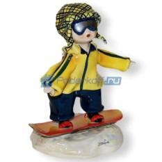 Фарфоровая статуэтка Сноубордист от Zampiva