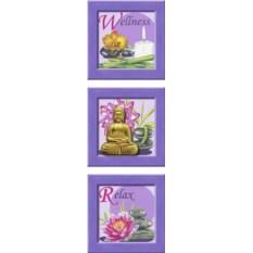 Триптих по номерам Ravensburger Будда с барельефом