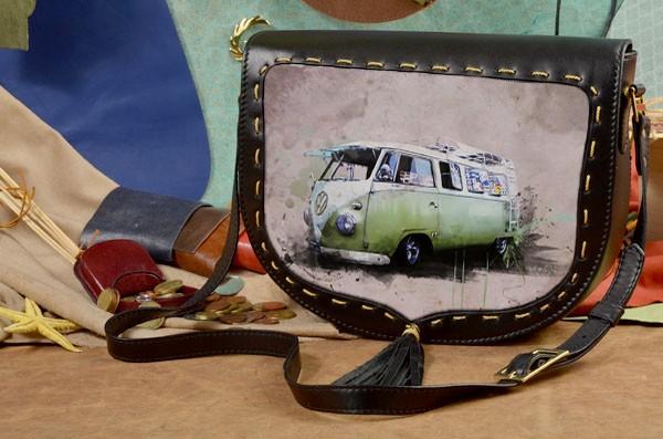 Женская сумка-седло Хиппи-автобус