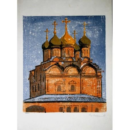 Гравюра «Русская церковь»