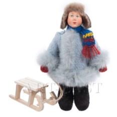 Кукла Степа с санками