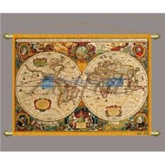 Декоративное панно (репродукция старинной карты)
